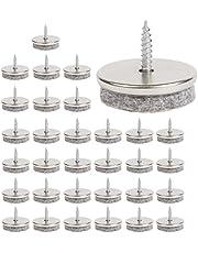 Furniture Felt Pads - 28 mm diameter viltpads voor meubelvoeten. 5 mm dikke stoelbeenbeschermers. Meubelpads met eenvoudige schroefinstallatie zijn ideale vloerbeschermers