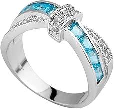 shelian Cat Eye Rhinestone Diamond Turquoise Rings Fashion Jewelry Decor Multicolor Lodestar