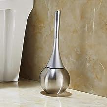 Makkelijk te gebruiken Badkamer wassen toilet borstel toilet toilet borstel houder set roestvrijstalen reinigingsborstel t...
