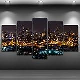 SGDJ 5 Leinwanddrucke Grand Palace Bangkok bei Nacht,
