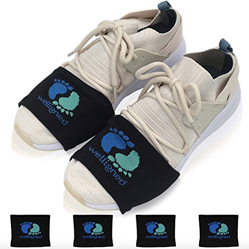 Welligned Dance Socks Over Sneakers for Smooth Floors - 4 Pairs of Black Fitness & Line Dance Shoe Covers for Women & Men One Size Fits All