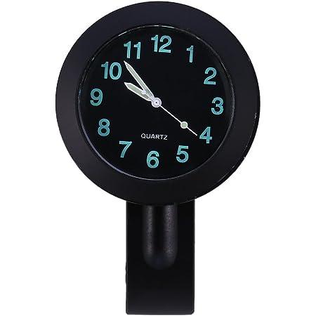 """Horloge de Guidon de Moto Montre de Guidon 7/8"""" Imperméable à l'Eau Noir Étanche Universelle"""