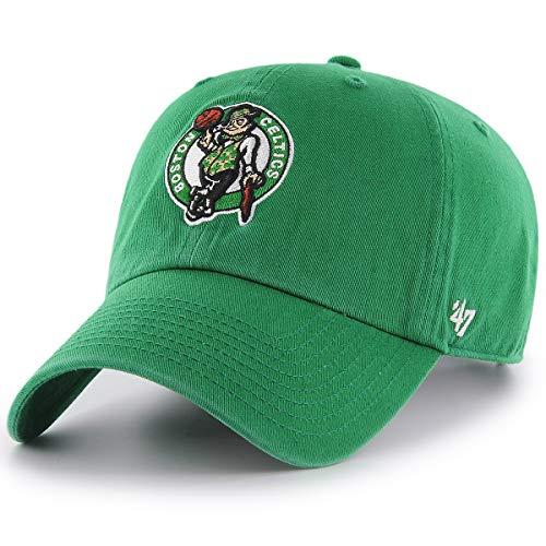 '47 NBA Boston Celtics Clean Up Adjustable Hat, Kelly, One Size
