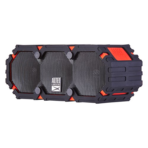 Altec Lansing iMW475 Mini Life Jacket Bluetooth Speaker Waterproof Wireless Bluetooth Speaker, Hands-Free Extended Battery Outdoor Speaker, Ultra-Portable 10ft Range, Dark Red