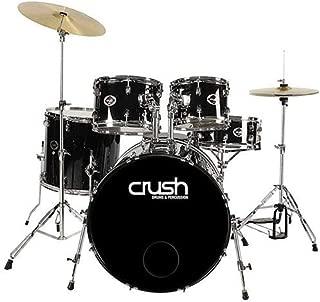 Crush Drums Alpha 5 Piece Complete Drumset, Includes 20x14