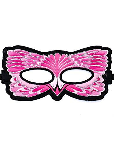 Dreamy Dress-Ups 67114 masker, stoffen masker, flamingo, vogel Rosaflamingo Phoenicopterus