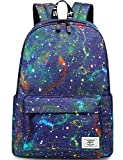 Mygreen Galaxy Backpack for Girls, Boys, Kids, Teens by Mygreen, 14 inch Durable Book Bags for Elementary, Middle, Junior High School Students, A Gift That Gives Back Purple&Yellow