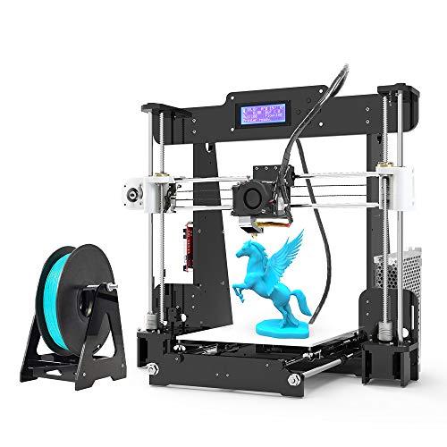 Anet A8 3D Printer, FDM DIY 3D Printer Kits, FDM 3D Printers 220x220x240mm, Self-Assembly DIY 3D Printer with 8GB TF Card, Card Reader,10m White Filament