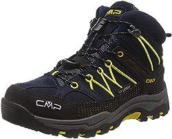 CMP Unisex-Kinder Kids Rigel Mid Shoe Wp Trekking- & Wanderstiefel, Blau (B.Blue-Zafferano 11nd), 39 EU