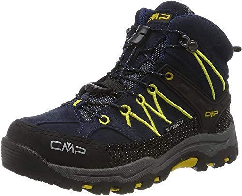 CMP Unisex-Kinder Kids Rigel Mid Shoe Wp Trekking- & Wanderstiefel, Blau (B.Blue-Zafferano 11nd), 33 EU