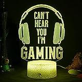 ZWOOS Gaming Lampe – Illusion Nachtlicht - LED Gaming Licht mit Fernbedienung - 16...