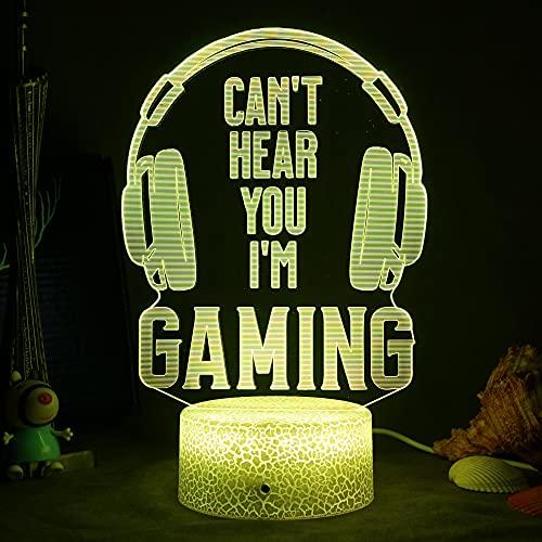ZWOOS Lampara Gaming - Gaming Luz con Control Remoto - 16 colores - 4 modos de iluminación - Gamer Decoracion (Model D)
