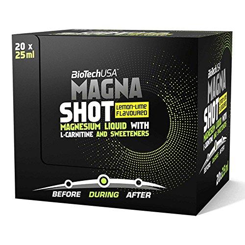 Magna Shot Zitrone-Limettette 20 * 25ml - Magnesium Shots - BiotechUSA