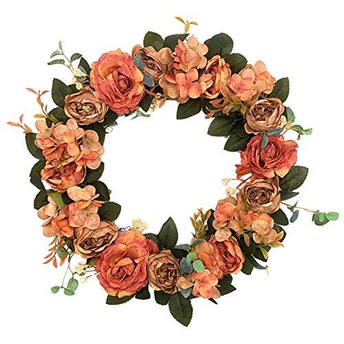 Rozwkeo Artificial Peony Wreath - 15