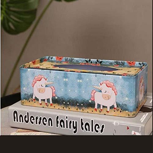 European Iron Holder Tissue Box,Home Table Decoration Square Napkin Sheet Paper Box Storage Automatic Paper Towel C
