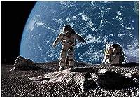 子供の壁紙壁画宇宙惑星地球宇宙飛行士アートステッカーポスター壁の装飾ファミリールームベッドルームゲームホール幼稚園-250x175CM