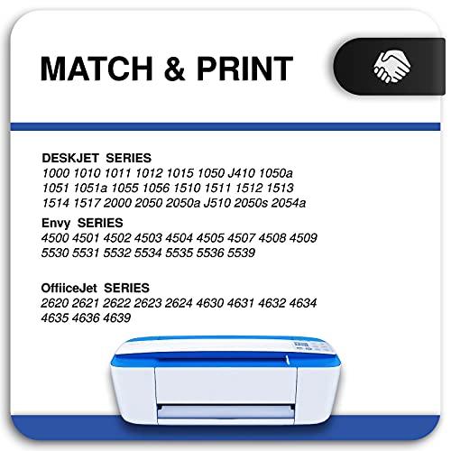 Inkwood Remanufactured for HP 301 301XL Cartucho de Tinta 2 Pack Negro para Officejet 2622 2620 4630 Deskjet 3050 3055 2540 2542 2050 2510 1000 1050 1050A 1510 1512 1514 Envy 5530 4500