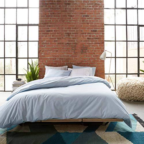 sleepwise™ Biber Bettwäsche Baumwolle | weich warm kuschelig | 135x200 cm + 80x80 cm Kissenbezug | Hell Blau