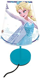 Lexibook LT010FZ Disney Bedside, Kids Bedroom lamp with lampshade, Colour Decorative Light for Geeks Featuring Frozen Supe...