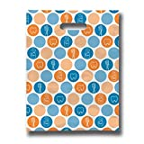 Practicon 11096116 Dental Dots Scatter Print Patient Bags, 8