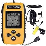 Transductor de pesca de la alarma de la ecosonda visual del LCD LED del buscador de pescados para la actividad al aire libre
