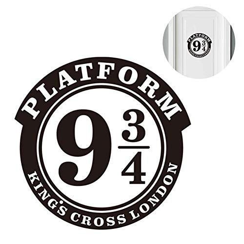 """Naisicatar 1pc Sticker Mural décoratif en Vinyle pour Porte de Chambre Motif Harry Potter Inscription Platform 9 3/4"""" x 8.9"""""""