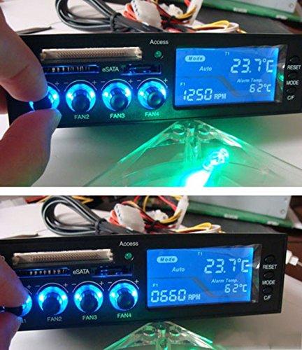 """5.25 """"LCD Fan Controller Regulador de velocidad Grupo CPU HD C / F de temperatura Temperatura Sensor"""