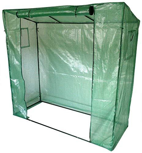 Gartenpirat Foliengewächshaus Gewächshaus für Tomaten mit Gitternetzfolie grün 200x77x200cm (LxBxH)