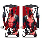 Vinyl Skin Decal Stickers for Xbox Series X Console Skin, Anime Protector Wrap Cover Protective Faceplate Full Set Console Compatible with Xbox Series X Controller Skins (Dead Pool[4801])