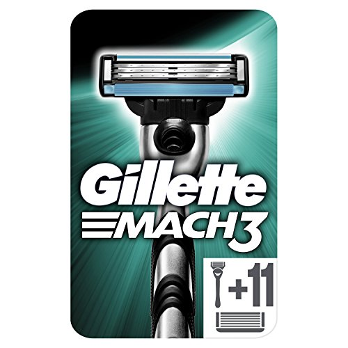 Gillette Mach3 Maquinilla de Afeitar Hombre + 12 Cuchillas de Recambio