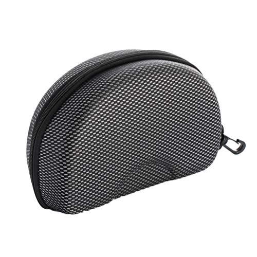 Eva brillenkoker bescherming ritssluiting compressie zonnebril box koffer zwart
