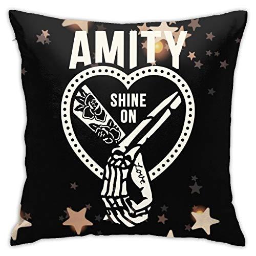 Amity Affliction Shine-On Logo kissenhülle Kopfkissenbezug Bettkissenbezug Pillowcase für Herren & Damen & Jugend Jungen Mädchen