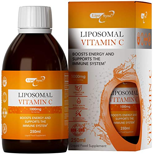 LS Liposomal Vitamin C 250ml Liquid | Highly Bioavailable and Absorbable Form of Vitamin C | Vegan Health Supplement | Non GMO, Allergen, Dairy & Gluten Free | Made in The ISO Licensed Facilities