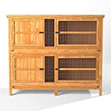 4ft Chartwell 2 Tier Rabbit Hutch   Perfect for keeping Rabbits and Guinea Pigs separate   Outdoor & Indoor Rabbit Hutch for 2 Rabbits Or Guinea Pigs   The Biggest 4ft Hutch On Amazon