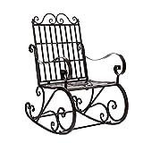 DALL Mecedora De Hierro Antiguo Asiento De Porche De Patio Mecedora De Exterior para Muebles De Jardín Al Aire Libre