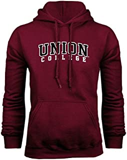Union College Maroon Fleece Hoodie 'Arched Union College'