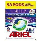 Ariel Waschmittel Pods All-in-1, Color Waschmittel, 98 Waschladungen (2 x 49) Frischer Wä...