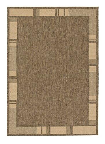 Teppich Andria - 6511-171-060 - 80 x 200 cm - coffee-natural - Vorleger, Läufer, Gallerie, Teppich - Design: Bordüre - Vielseitig und...