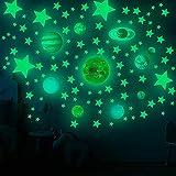 Pinsheng Luminoso Pegatinas de Pared, 535pcs Puntos Luna y Estrellas Adhesivos Decorativo de Pared Fluorescentes Decoración de la habitación para habitaciones de niños