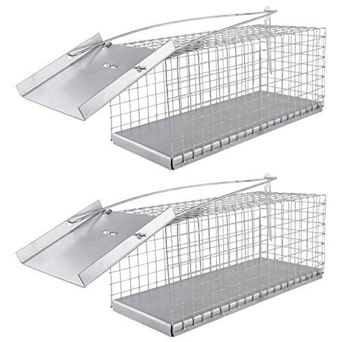 2er Set I extra Feinmaschige Lebendfalle für Mäuse, Ratten, Siebenschläfer 27 cm I Extrem Effektiv I Wetterfeste Lebend Rattenfalle, Siebenschläferfalle, Mäusefalle, Mausefalle