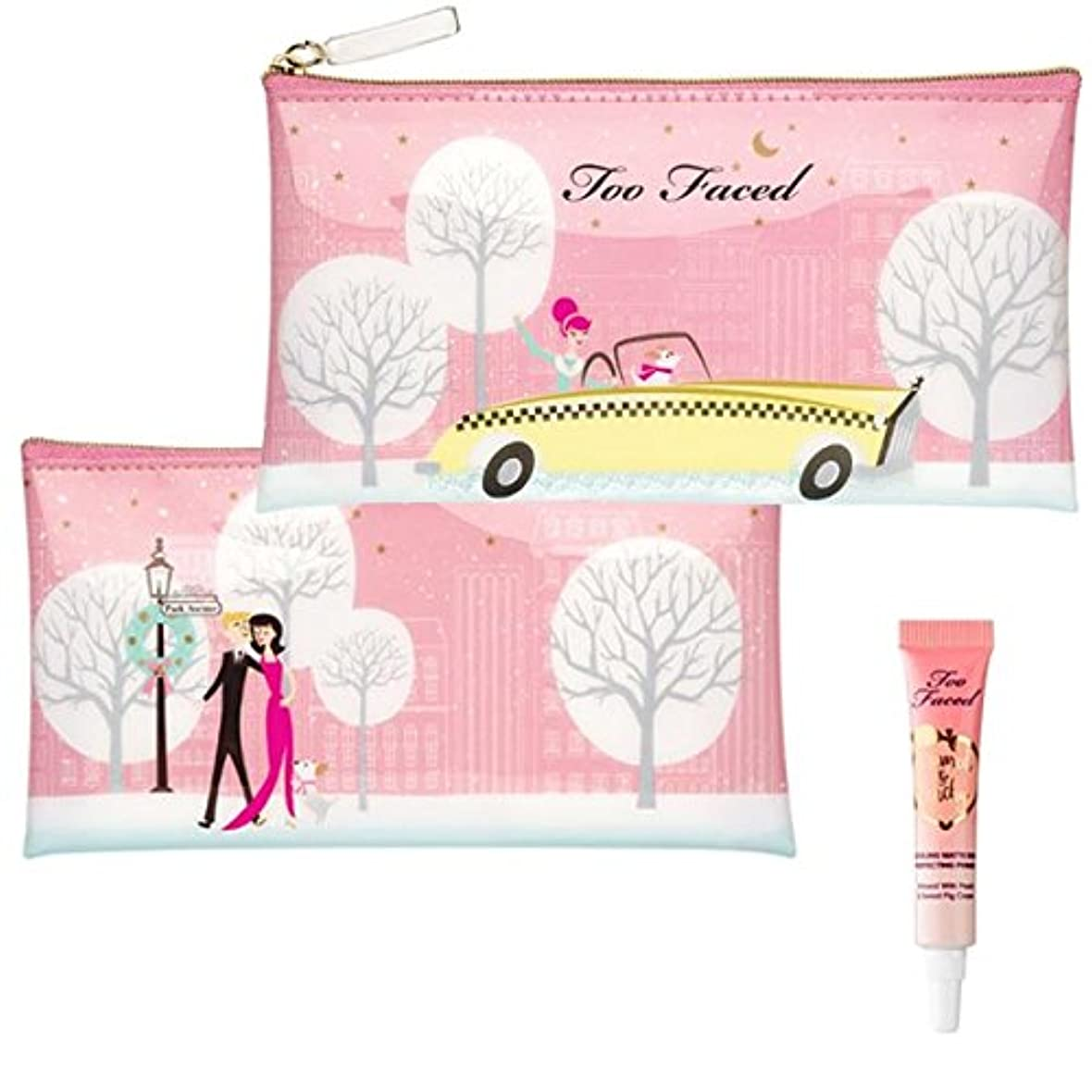 調べる対人曲がったToo Faced, Park Avenue Kisses Bag & Primed & Peachy Cooling Matte Perfecting Primer deluxe sample(5ml) [海外直送品] [並行輸入品]