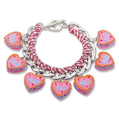 Edelweiss Trachten Armband Oktoberfest Dirndl Lebkuchen Herzchen LOVE Rosa