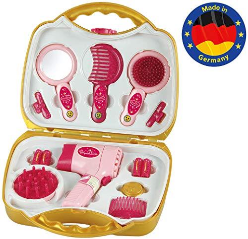 Theo Klein-5293 Princess Coralie maletín con secador eléctrico, Juguete, (5293)