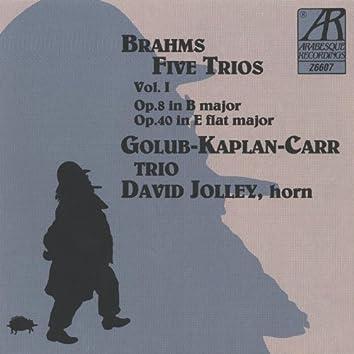 Brahms: Five Trios, Volume I