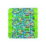 Manyo - Alfombra de juegos plegable rectangular para bebé, alfombra de juegos para niños, impermeable, para coche, 130 x 160 x 0,5 cm