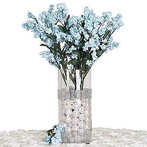 BalsaCircle 32 Silk Baby Breath Artificial Flowers – 12 Bushes – Party Wedding Centerpieces Arrangements Bouquets Supplies