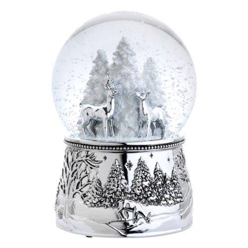 REED AND BARTON North Pole Bound Musical Snow Globe, 2.15 LB, Multi