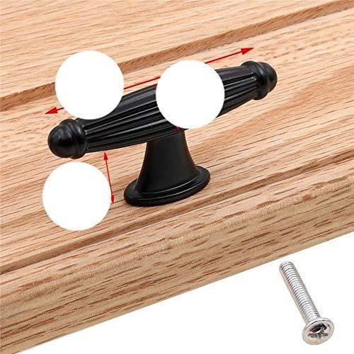 6095-6.7 Türgriff für Schublade, Küchenschrank, Schublade, aus Aluminiumlegierung, Schwarz