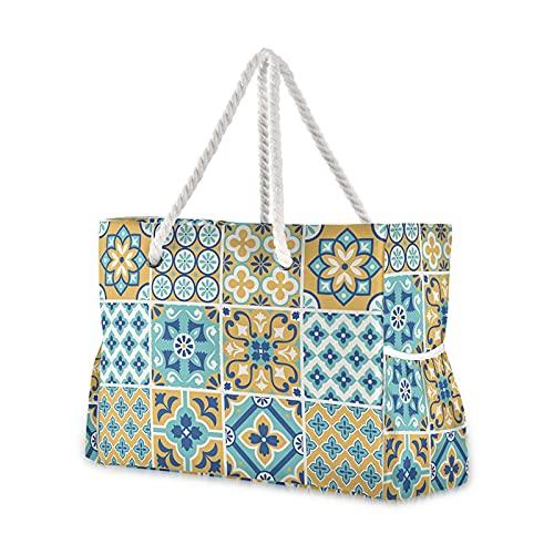 JSJJAKM Bolsas de playa de nailon para mujer, bolso de playa, bolsa de playa para mujer, estampado de corazones coloridos y informales, bolsa de compras para dama (color 05)
