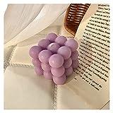 LZZB Accesorios de fotografía de Regalo de cumpleaños aromático de Cera de Soja de Burbuja Decorativa (Color: púrpura)
